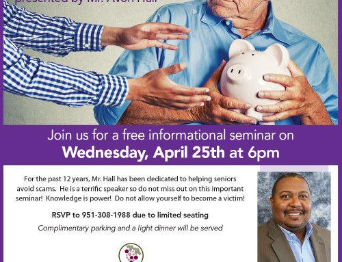 Information Seminar: Avoiding Senior Scams