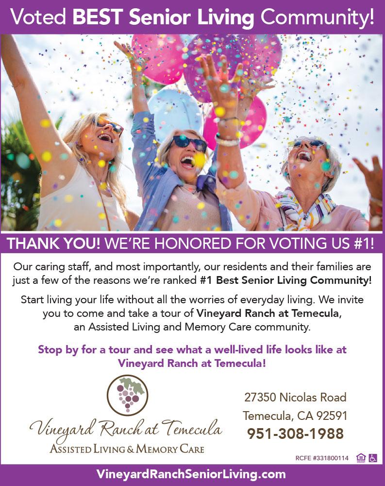 Vineyard Ranch At Temecula Assisted Living And Memory Care
